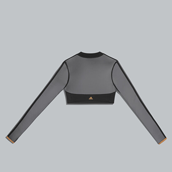 תמונה של Long Sleeve Mesh Crop Top