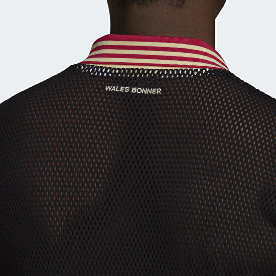 Picture of Wales Bonner Mesh Polo Shirt