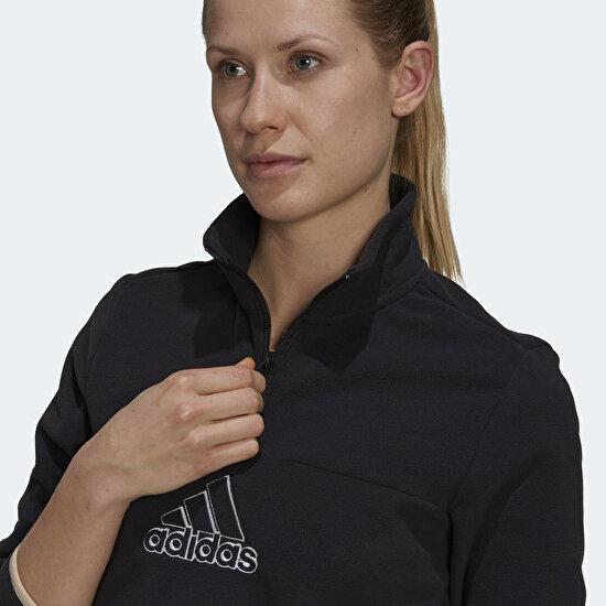 Picture of Brand Love Polar Fleece Embroidered Logo Half-Zip Sweatshirt